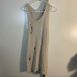 MINKPINK Distressed Style Knit Tank Top